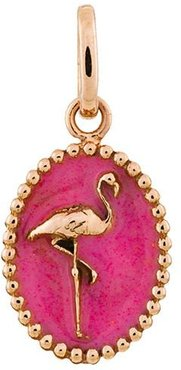 Gold and Resin Flamingo Medallion - Pink
