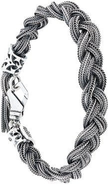 braided bracelet - Metallic