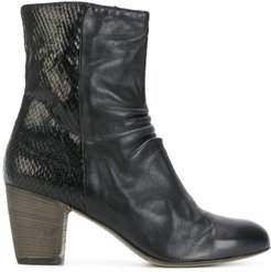 zipped ankle boots - NERO