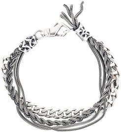 multi chain bracelet - Metallic