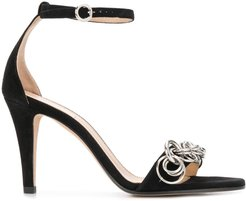 Reese chain-embellished sandals - Black