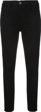 mid-rise cropped jeans - Black