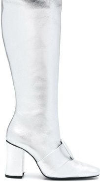 knee length boots - Metallic