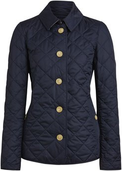 diamond quilted jacket - Blue