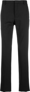 tailored slim-fit trousers - Black