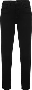 high rise ankle grazer jeans - Black