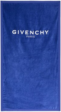 Logo Embroidered Towel - Blue