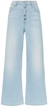 Charlotte button down flared leg jeans - Blue