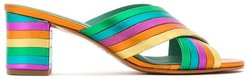 metallic leather Rainbow mules - Yellow