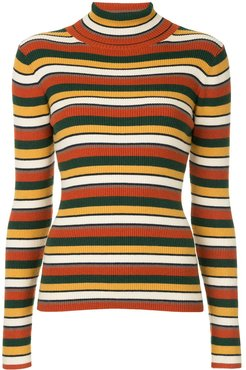 striped roll neck jumper - Multicolour