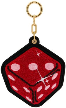 dice keyring - Red