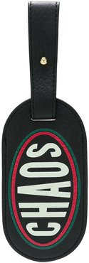 graphic luggage tag - Black