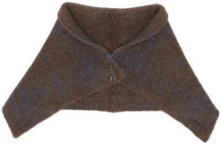 checked scarf - Brown