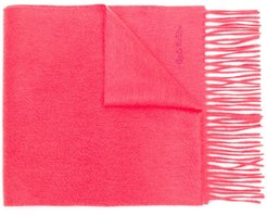 fringed scarf - PINK