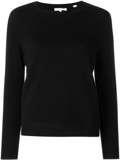 fitted cashmere sweater - Black