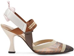 slingback court shoes - Brown