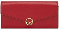 F Continental chain wallet - Red