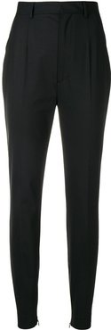 tailored tapered trousers - Black