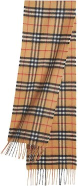 The Mini Classic Vintage Check Cashmere Scarf - Brown