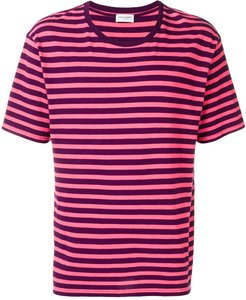 striped print T-shirt - PINK
