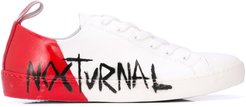 Nocturnal low-top sneakers - White