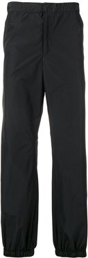 elasticated waist trousers - Black
