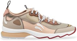 multicolour technical mesh sneakers - Brown