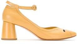 leather pumps - Yellow