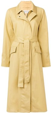 belted trench coat - Yellow