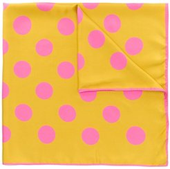 dotted silk scarf - Yellow
