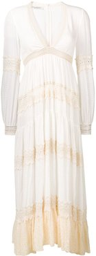 flared maxi dress - White