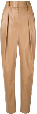Society tapered trousers - Brown