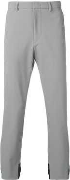 small check trousers - Grey