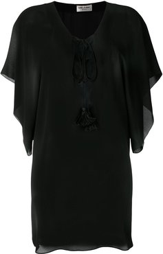beach cover-up - Black
