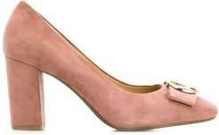 logo plaque pumps - PINK