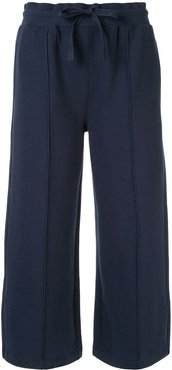 cropped length track pants - Blue
