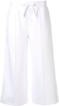 Spacer cropped track pants - White