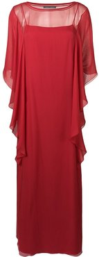 ruffled maxi dress - Red