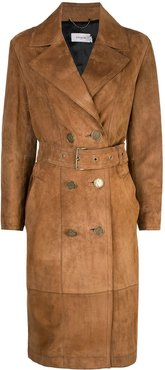 double-breasted trench coat - Brown
