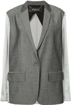 contrast fitted blazer - Grey