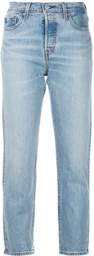 crop tapered jeans - Blue