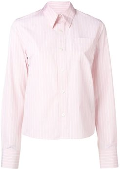 Classic-Wide Fit Shirt With Chest Pocket - Pink