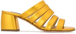 open toe mules - Gold