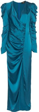 Gin ruched maxi dress - Blue