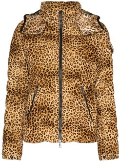 Bady leopard print down coat - Brown