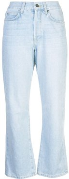 cropped bootcut jeans - Blue