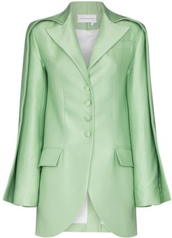 double sleeve tailored blazer - Green