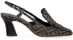 FFreedom slingback court shoes - NEUTRALS