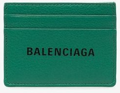 green everyday logo leather card holder