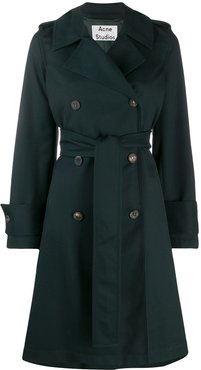 belted trench coat - Green